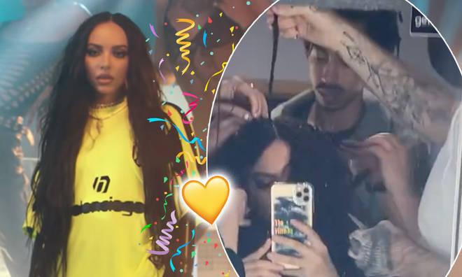 Jade Thirlwall shares rare snaps of her boyfriend Jordan Stephens on set for 'Confetti'