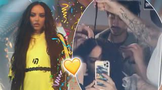 Jade Thirlwall share rare snaps of her boyfriend Jordan Stephens on set for 'Confetti'