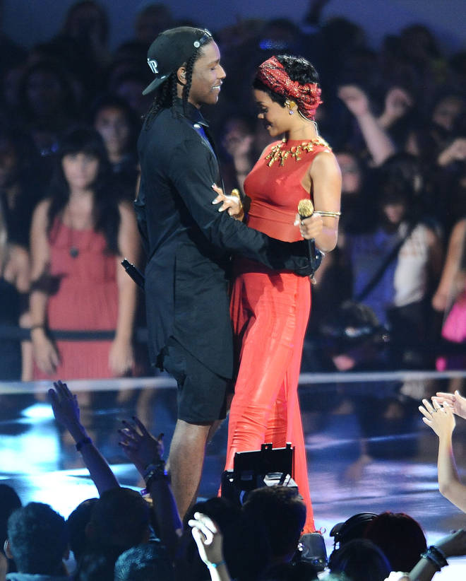 Rihanna and A$AP Rocky perform together at the VMAs 2012