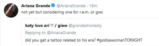 Ariana Grande has previously said she wanted an 'R.E.M' tattoo