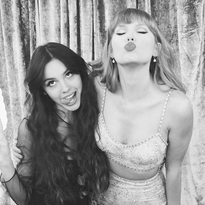 Olivia Rodrigo's idol, Taylor Swift, has a writing credit on her debut album