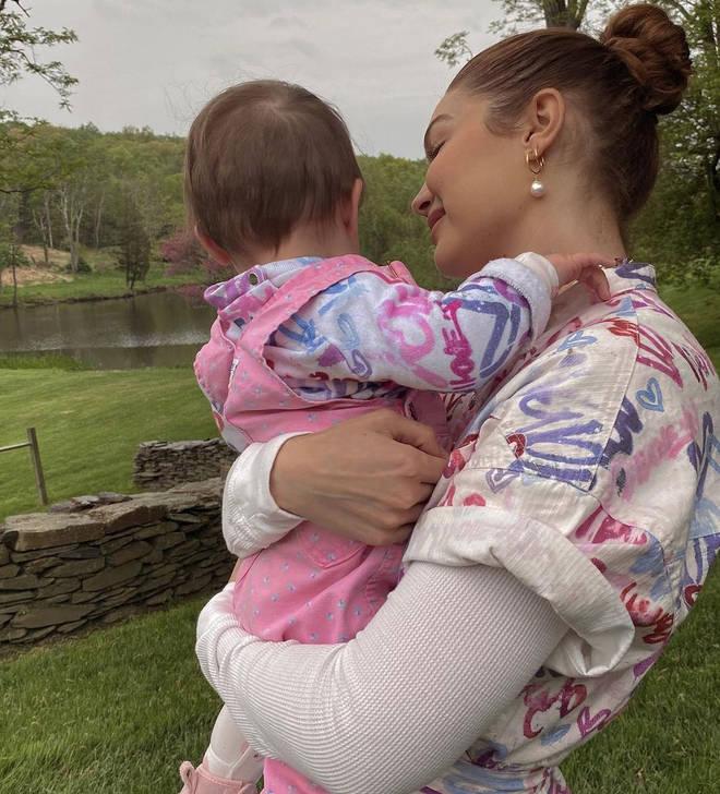 Gigi Hadid and baby Khai sport matching outfits