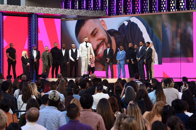 Drake accepted the award of Artist of the Decade at the BBMAs