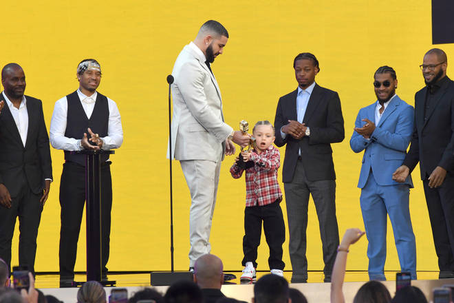Drake dedicated his award to his son, Adonis