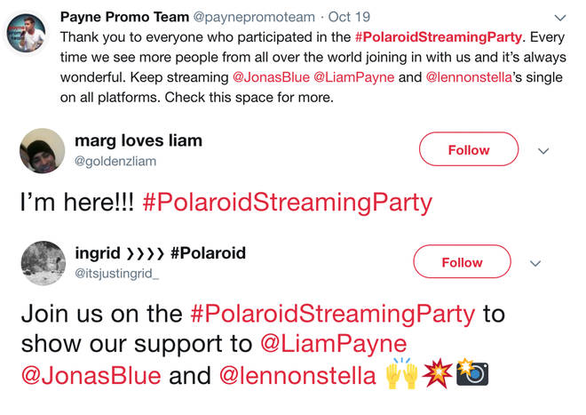 Liam Payne's fans have been hosting streaming parties for his new single 'Polaroid'