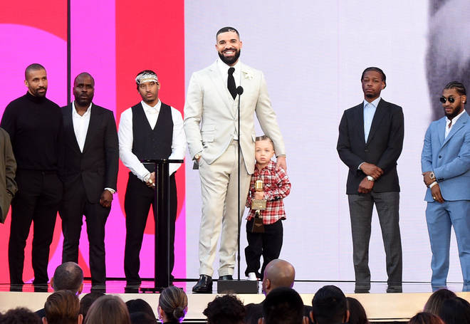 Drake accepted his Artist of the Decade award at the BBMAs with son Adonis