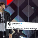 Louis Tomlinson thanked his fans for their support