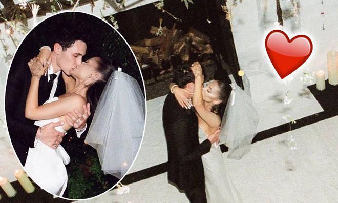 Ariana Grande and Dalton Gomez have shared their wedding photos