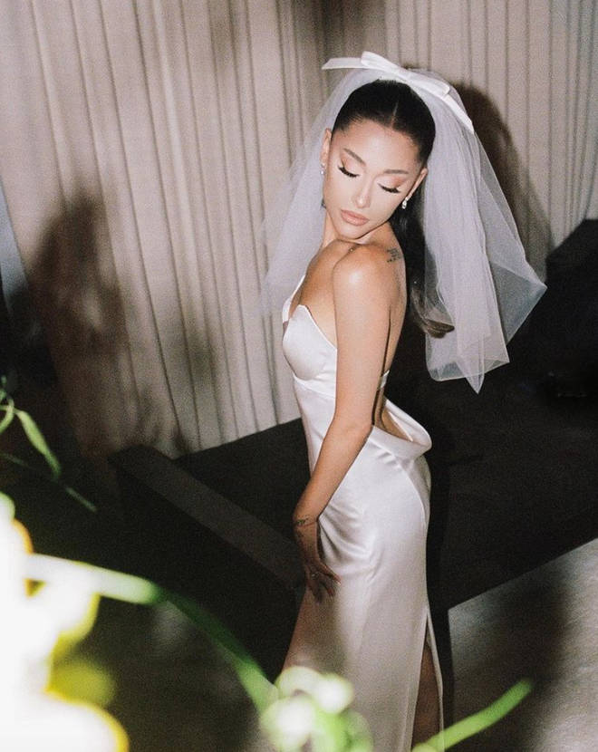 Ariana Grande was a vision in the custom Vera Wang Gown