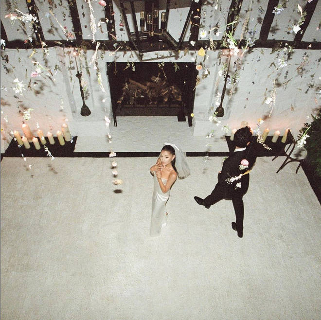 Ariana Grande tied the knot with Dalton Gomez who wore a Tom Ford suit at the ceremony