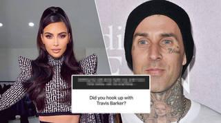 Kim Kardashian addressed claims she was romantically involved with Travis Barker