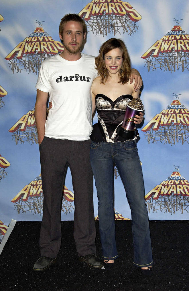 Rachel McAdams and Ryan Gosling played Allie and Noah in The Notebook