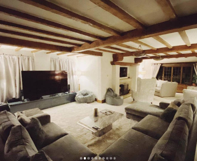James Arthur's living room is perfect for socialising