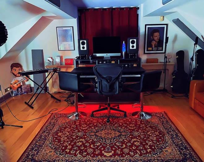 James Arthur built a studio in his mansion