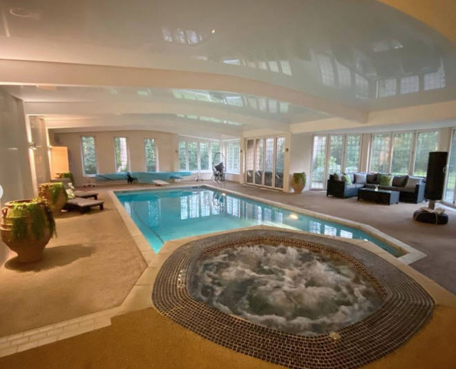 James Arthur has his very own pool at home