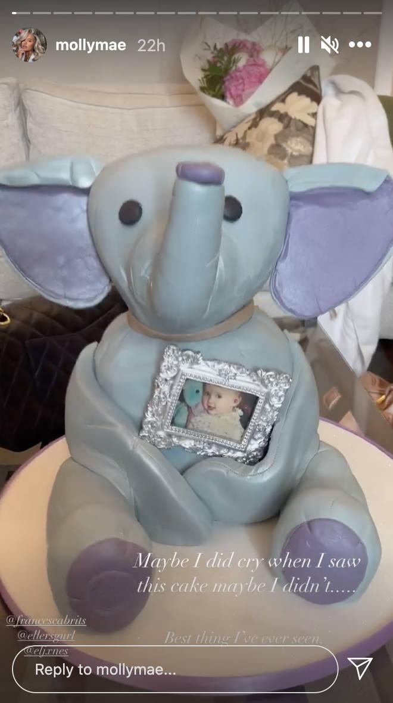 Molly-Mae Hague received an Ellie Bellie birthday cake
