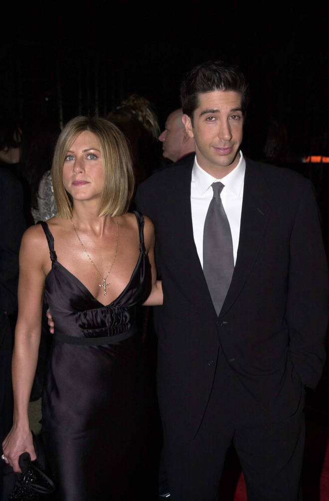 David Schwimmer and Jennifer Aniston played Ross and Rachel on Friends