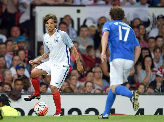 Louis Tomlinson is a keen footballer himself
