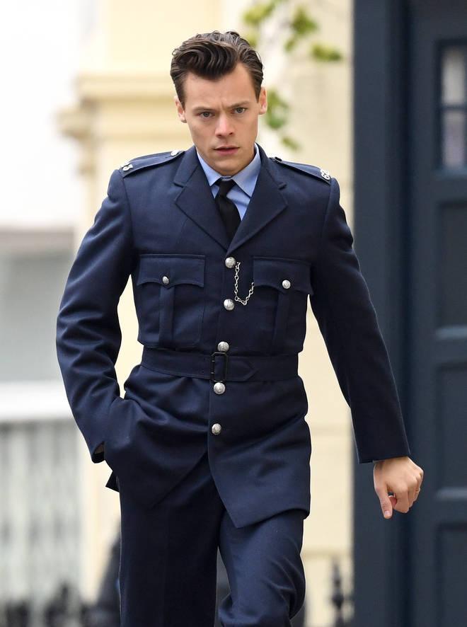 Harry Styles filming My Policeman in Brighton