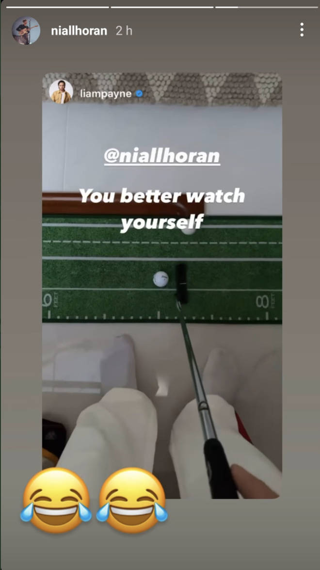 Niall Horan responded to Liam Payne's golfing post