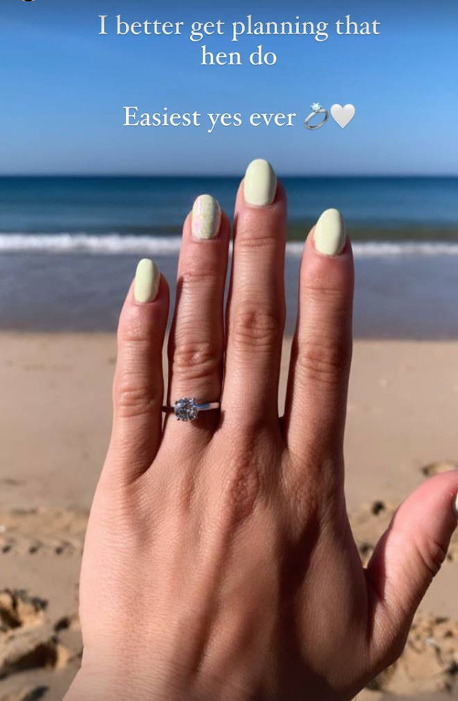 Laura Tott got engaged during a holiday to Portugal