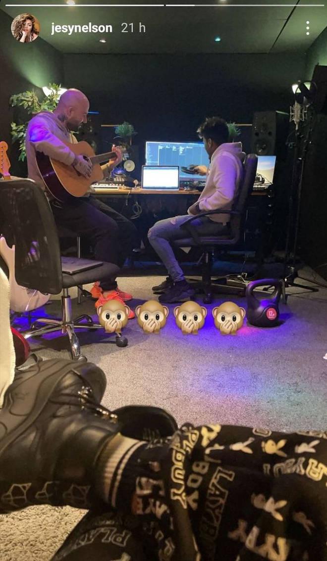 Jesy Nelson began posting studio snaps in February