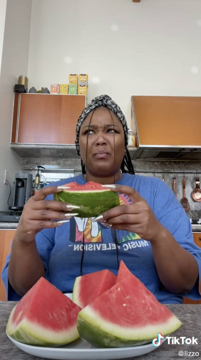 Lizzo's reaction to the watermelon and mustard TikTok trend is everything