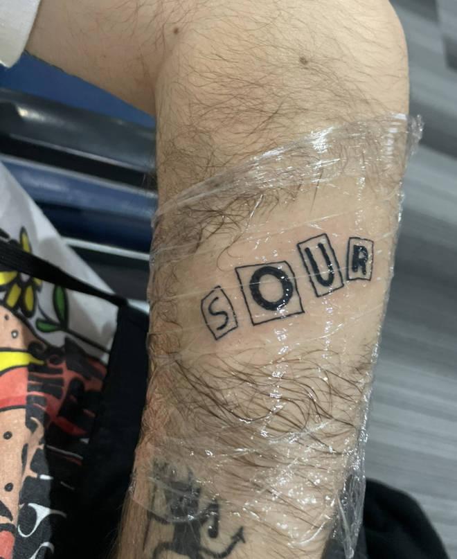 'Sour' is the title of Olivia Rodrigo's debut album