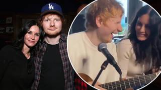 Courteney Cox and Ed Sheeran are close friends