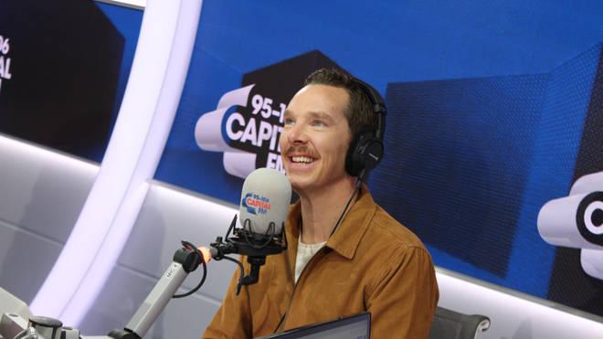 Benedict Cumberbatch in the Capital studio