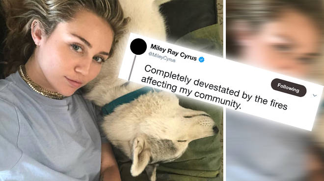 Miley Cyrus tweets about the California wildfires