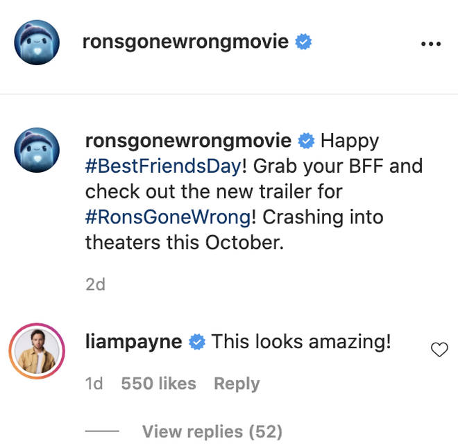 Liam Payne commented on Ron's Gone Wrong's post