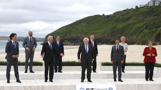 The G7 leaders were photographed in Cornwall