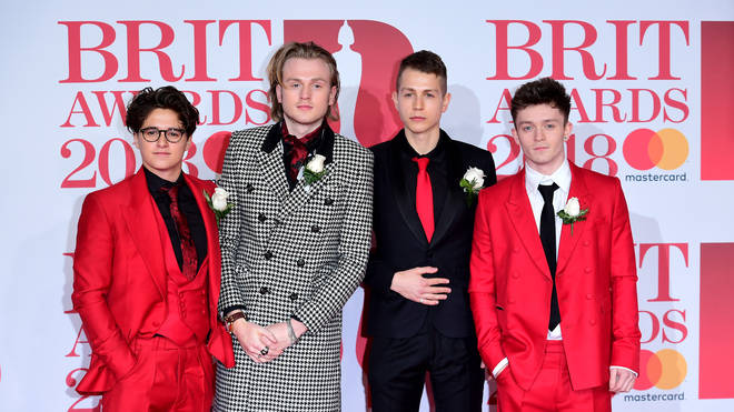 James McVey and The Vamps at the BRIT Awarda