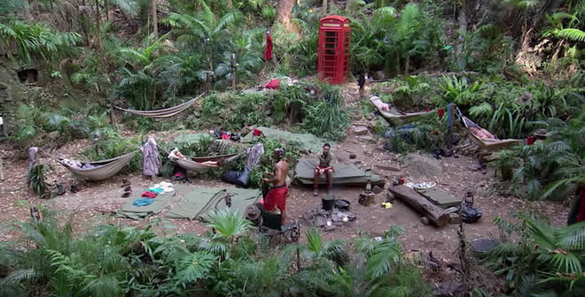 The 'I'm A Celebrity' camp is hidden in net so the jungle scene cannot be spotted