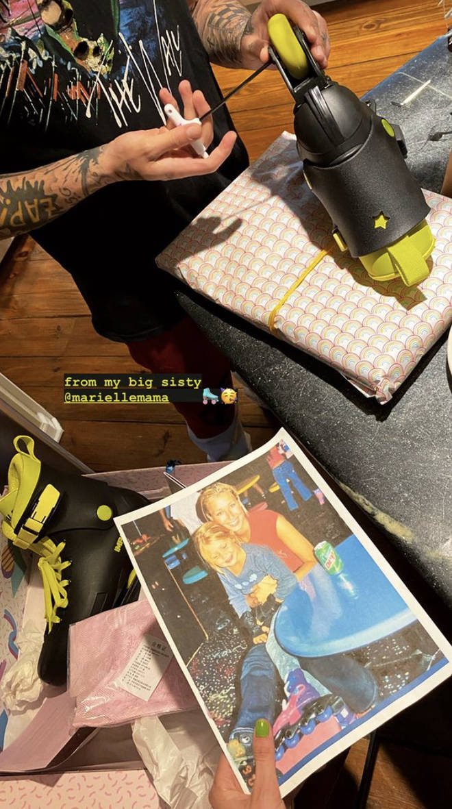 Gigi Hadid shared her new roller-skates on Instagram