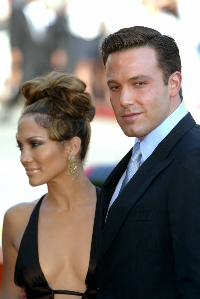 Ben Affleck and Jennifer Lopez at the premiere of their film, Gigli, in 2003