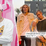 Justin Bieber and Kid Laroi's picture had fans questioning their height