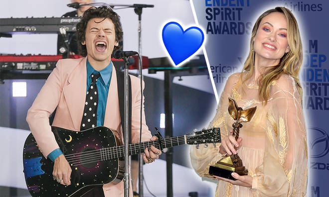 Olivia Wilde reacts to questions about her boyfriend Harry Styles