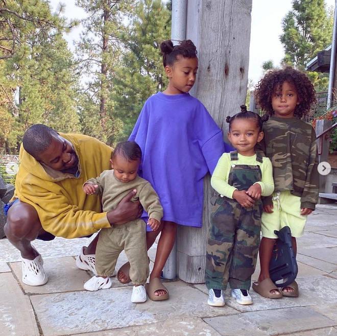 Kanye and Kim Kardashian still co-parent their four children