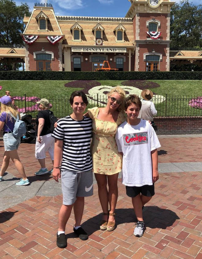 Britney Spears with sons Sean and Jayden