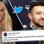 Justin Timberlake shows his support for Britney Spears during conservatorship court hearing