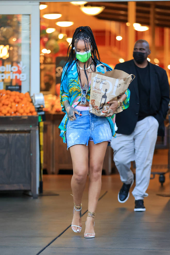 Rihanna was most recently spotted with her shark tattoo in March