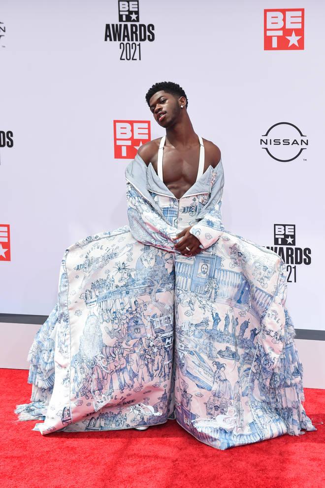 Lil Nas X breaks gender boundaries with his BET Awards red carpet looks