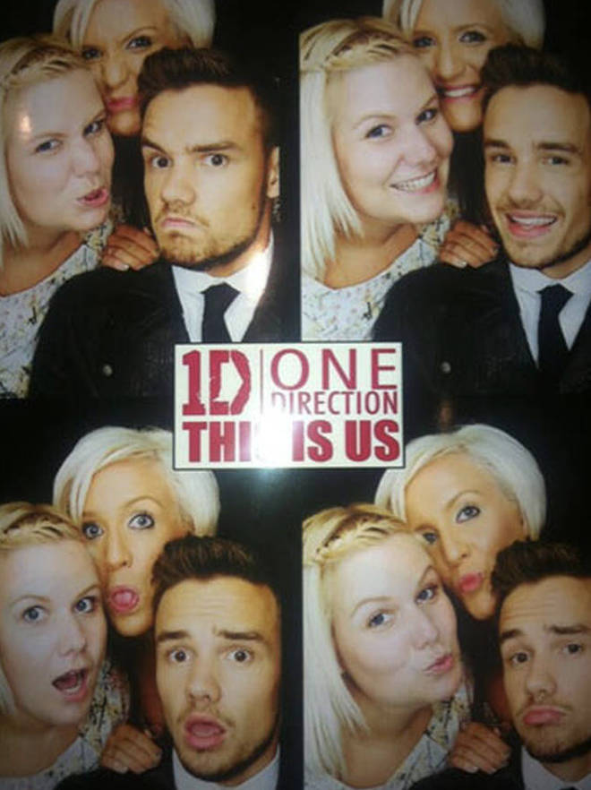 Liam Payne with his sisters Ruth and Nicola at the 1D This Is Us premiere