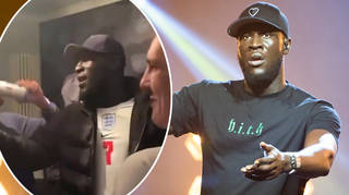 Stormzy went to an afterparty with football fans he met while watching the Euros 2020