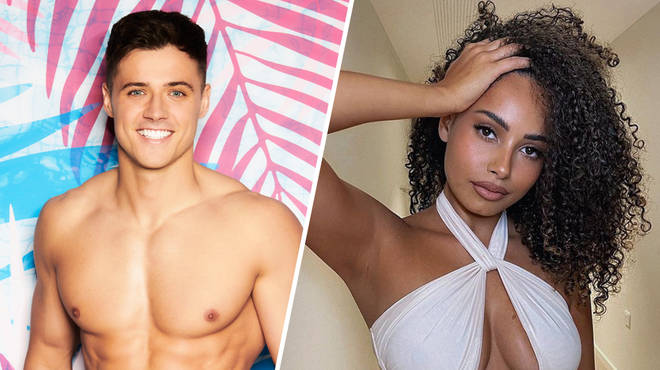 Amber Gill claimed her friend was getting to know Love Island's Brad McLelland