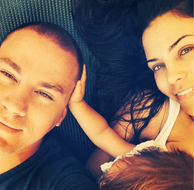 Channing Tatum and Jenna Dewan with their daughter, Everly.