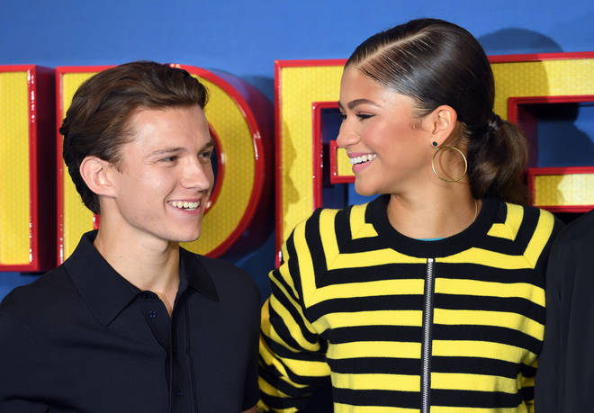 Tom Holland and Zendaya (pictured in 2017) were papped kissing in LA in July 2021