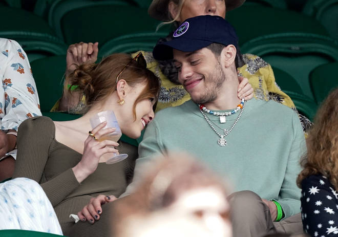Phoebe Dynevor and Pete Davidson piled on the PDA at Wimbledon